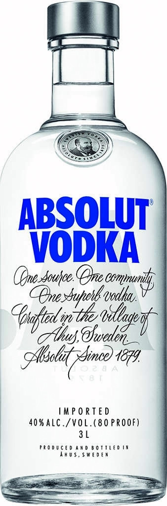 Absolut Blue  3l  40%