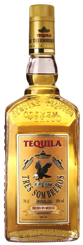Tequila 3 Sombreros Gold 0,7l